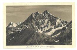 Svizzera Zermatt Les Mischabel – Vue Prise Du Gornergrat Timbro Hotel Trift Viaggiata 1919 - VS Valais