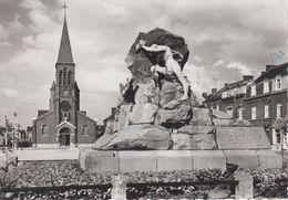 CPSM Châtelet - Place Franco-Belge - Eglise Du Faubourg Et Monument Français - Châtelet