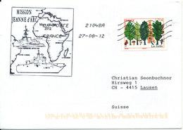 France Cover Sent To Switzerland 27-8-2012 (Mission Jeanne D'arc 2012) - Frankrijk