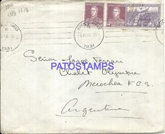 89838 ARGENTINA BUENOS AIRES PALACE HOTEL COVER YEAR 1931 CIRCULATED TO NECOCHEA NO POSTAL POSTCARD - Argentinien