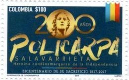 Colombia 2017 ** Policarpa Salavarrieta. Heroina De La Independencia. See Desc. - Colombie