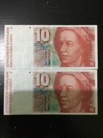 Switzerland 2 X 10 Francs BC - Suisse