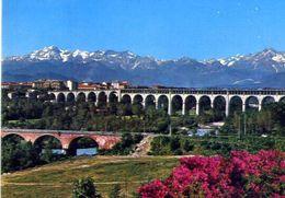 Cuneo - Viadotto Soleri E Ponte Vecchio - Formato Grande Viaggiata – At - Cuneo