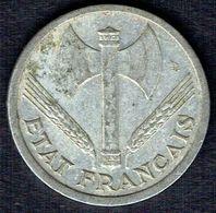 France - Monnaie - Année 1943 - 1 Francs. - Francisque - Bazor. - France