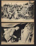 2 X CPA Postal CEP FRANCE WWI Ww1 WAR Guerre SOLDADOS PORTUGUESES Nas TRINCHEIRAS. Phot. Garcez 1915s - Guerre 1914-18