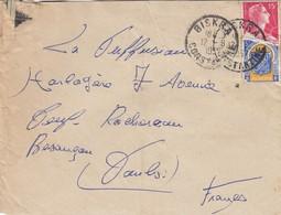 LETTRE  ALGERIE 1957  CACHET BISKRA CONSTANTINE  / 2 - Algeria (1924-1962)
