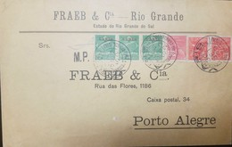 O) 1930 BRAZIL, OVERPRINT VARIG FLIGHT, LARGE PRINT, WITH THE FRANKING INCL, WITH LARGER SIZE VARIG OPTS,AVIATION SCOTT - Brazil