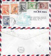 PRIMEIRO VOO CORREIO AEREO BOLAMA NEW YORK YEAR 1941 GUINEA PORTUGUESA GUINE TRES BON ETAT ENVELOPPE FIRST FLIGHT - Portuguese Guinea