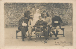 Finistère - Morlaix - Groupe à L'hopital Militaire En 1915 - Morlaix