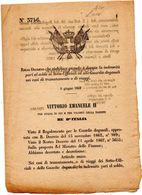 1967 DECRETO CHE STABILISCE QUANTO E' DOVUTA LA INDENNITÀ  AI SOTTO UFFICIALI  ED ALLE GUARDIE DOGANALI - Decreti & Leggi