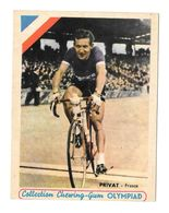 Carte De Collection Chewing-Gum Olympiad Privat France - Cyclisme