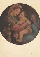 PEINTURE DE FRANCE - Sants Rafaéllo Dit Raphael Sanzeo ( 1453-1520 ) La Vierge à La Chaine - Peintures & Tableaux