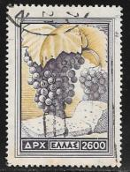 Greece, Scott # 554 Used Grapes, Bread, 1953 - Greece