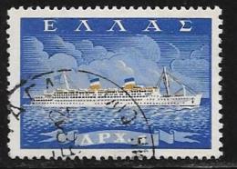 Greece, Scott # 619 Used Ship, 1958 - Greece