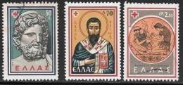 Greece, Scott # 658-60 Used (#659 Is Mint Hinged) Red Cross, 1959 - Greece