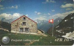 ECONOPHO : SWIL01 SFr 10 House In The Alps USED - Suisse