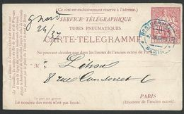 FRANCE 1881 30c Telegramme Postcard Used...................................47855 - 1877-1920: Semi Modern Period