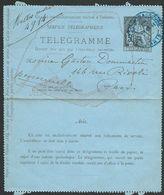 FRANCE 1884 50c Telegramme Lettercard Used.................................47854 - 1877-1920: Semi Modern Period