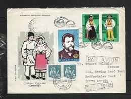 Rumania, Provincial Costumes FDC BUCHARESTI 7 XI 1987 Uprated Lei 11  HATEG 09.10 87 > Air Mail > South Africa - FDC