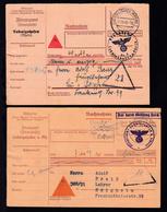 Ludwigshafen 1940 2 Nachnahme-Karten Des Finanzamts Ludwigshafen, - Deutschland