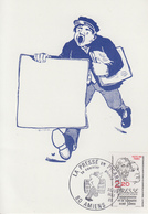 Carte  Maximum  1er  Jour    FRANCE   LA   PRESSE   Le  Courrier  Picard   AMIENS   1981 - Cartes-Maximum