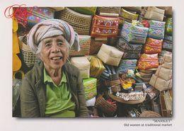Postcard Indonesia Bali Market Basket - Indonesien