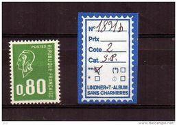 MARIANNE DE BEQUET Sans Phos. - N° 1891b ** - 1971-76 Marianne Of Béquet