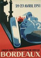 Automobile Grand Prix Bordeaux 1951 - Postcard Reproduction - Publicité