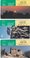11734-N°. 5 SCHEDE TELEFONICHE - EMIRATI ARABI UNITI-ETISALAT - USATE - Emirati Arabi Uniti