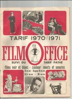 FILM - OFFICE : TARIF 1970 / 1971 - Other Collections