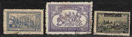 Afghanistan Stamps 1942 Sugar Mill, Baghlan 1.25AF, 1962 Buzkashi Game 25AF, 1951 View Of Kandahar 50 AF Monuments - Afghanistan