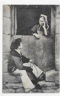 (RECTO / VERSO) BERNE - N° 1099 - JEUNES AMOUREUX - Collection A WARON A ST BRIEUC - CPA NON VOYAGEE - Auray