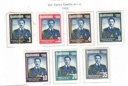 Guatemala PA 1959 Col.Castillo Scott.C223/229+Nuovi See Scans On Scott.Pages - Guatemala