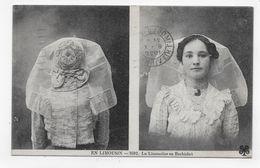 (RECTO / VERSO) EN LIMOUSIN EN 1920 - N° 3502 - LA LIMOUSINE EN BARBICHET - BEAU CACHET - CPA VOYAGEE - France