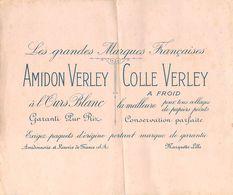 VP-GF.18-201 : BUVARD.  AMIDON VERLEY. COLLE VERLEY. MARQUETTE PRES LILLE. NORD - Buvards, Protège-cahiers Illustrés