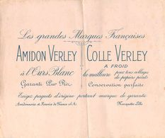 VP-GF.18-201 : BUVARD.  AMIDON VERLEY. COLLE VERLEY. MARQUETTE PRES LILLE. NORD - Blotters