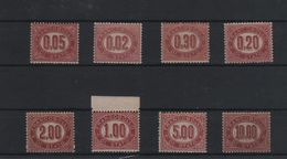 1875 Francobolli Di Servizio Serie Cpl MNH - 1878-00 Umberto I