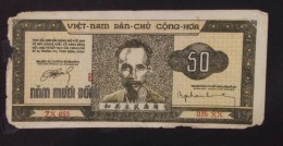 North Vietnam Viet Nam 50 Dong Fine Banknote 1950 / 02 Images - Vietnam