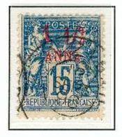 ZANZIBAR N°3 Belle  OB DE 1894-96  Surcharge 1 1/2 Anna TB - Oblitérés