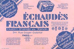 VP-GF.18-223 : BUVARD. ECHAUDES FRANCAIS. ETABLISSEMENT GRANZY ET ZINCK. PARIS RUE GAGER GABILLOT. - Buvards, Protège-cahiers Illustrés