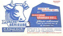 VP-GF.18-230 : BUVARD. LA VACHE SERIEUSE. USINE FROMAGERIE. FROMAGE. GROSJEANVILLE. - Produits Laitiers