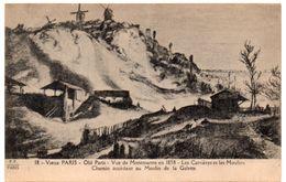 Vieux PARIS - Montmartre En 1858 - Les Carrière Et Les Moulins - Chemin Accédant Au Moulin De La Galette - Distrito: 18