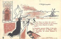 VP-GF.18-231 : BUVARD. CHAMBRE SYNDICALE DU CYCLE. VELO. SOEUR ANNE NE VOIS-TU RIEN VENIR ? - Buvards, Protège-cahiers Illustrés