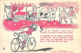 VP-GF.18-232 : BUVARD. CHAMBRE SYNDICALE DU CYCLE. VELO. SI LES ROIS FAINEANTS AVAIENT CONNU LA BICYCLETTE. - Buvards, Protège-cahiers Illustrés