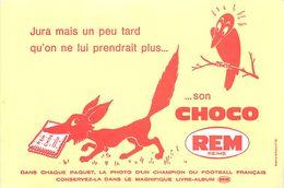 VP-GF.18-250 : BUVARD. LE CORBEAU ET LE RENARD. CHOCO REM. A REIMS. MARNE. FABLE DE LA FONTAINE. - Buvards, Protège-cahiers Illustrés