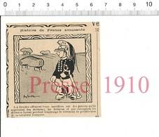 2 Scans Presse 1910 Humour Dolmen Druide Cavalerie Française Dolman Métier Receveur Contributions Perception Impôts 51C3 - Vieux Papiers