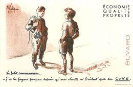 VP-GF.18-256 : BUVARD. LE PETIT RAMONEUR.  CHARBON COKE. - Buvards, Protège-cahiers Illustrés