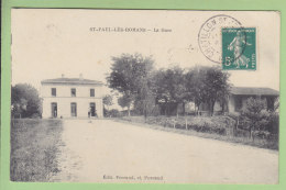 SAINT PAUL LES ROMANS : La Gare. 2 Scans. Edition Ferrand - France