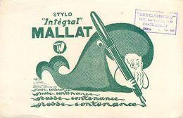 VP-GF.18-259 : BUVARD. STYLO INTREGRAL MALLAT. BALEINE. ECRITURE. - Buvards, Protège-cahiers Illustrés