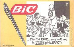 VP-GF.18-261 : BUVARD. STYLO BIC. ECOLE ENSEIGNEMENT. ILLUSTRATION DE JEAN EFFEL - Buvards, Protège-cahiers Illustrés